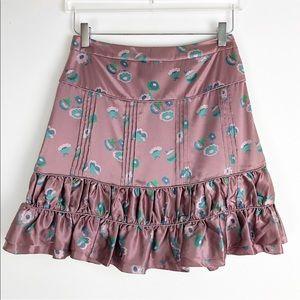 Marc Jacobs   Pink blush floral silk mini skirt